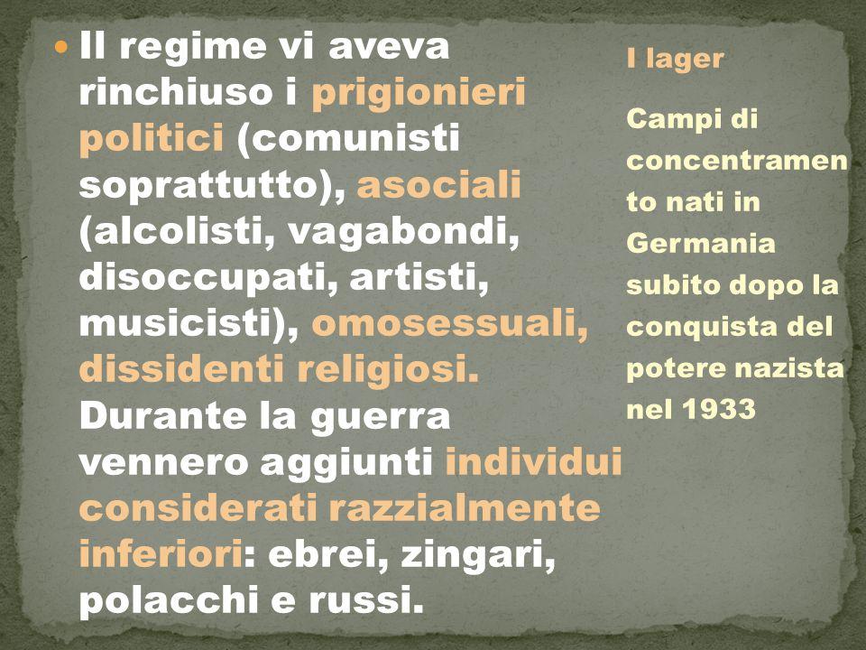 Il regime vi aveva rinchiuso i prigionieri politici (comunisti soprattutto), asociali (alcolisti, vagabondi, disoccupati, artisti, musicisti), omosess