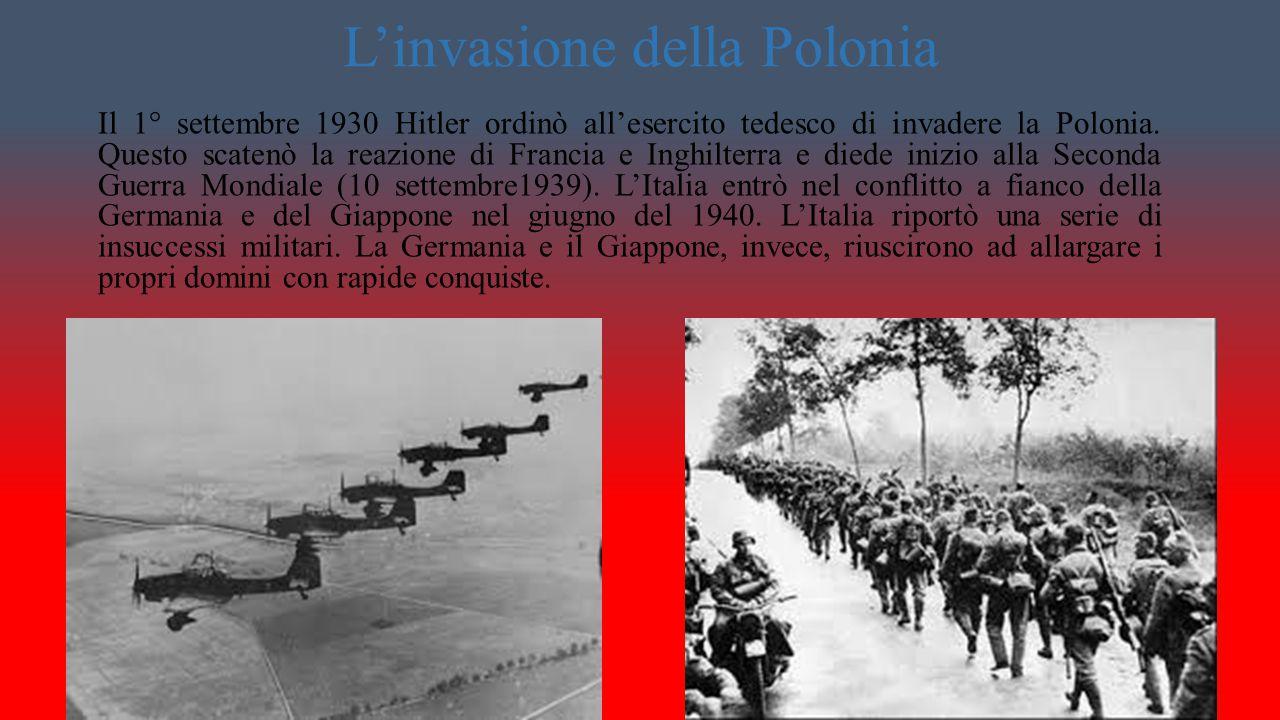 Hitler e la Francia Parallelamente Hitler occupò la Francia.