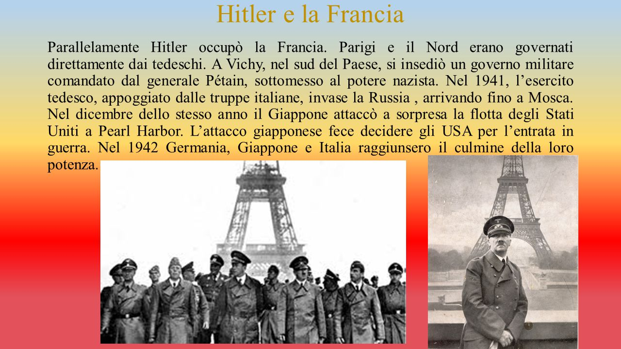 L'Europa sottomessa ai nazifascisti Quasi tutta l'Europa era sottomessa ai nazifascisti, che organizzavano un'intensa propaganda delle idee naziste e abolivano tutte le libertà politiche.