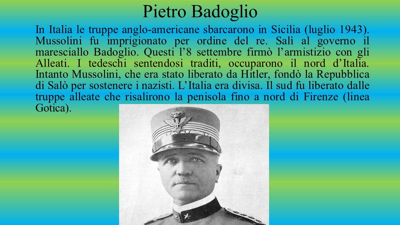 La resistenza partigiana Dopo l'8 settembre nacque in Italia il movimento di resistenza armata per liberare il Paese dall'occupazione nazista.
