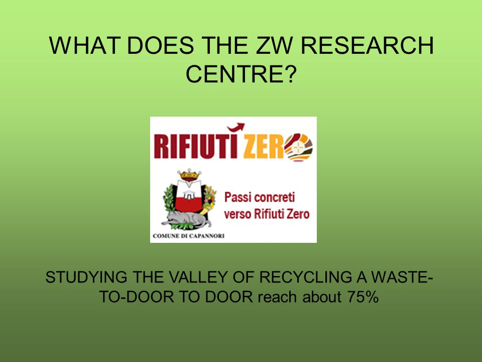 WHAT DOES THE ZW RESEARCH CENTRE.