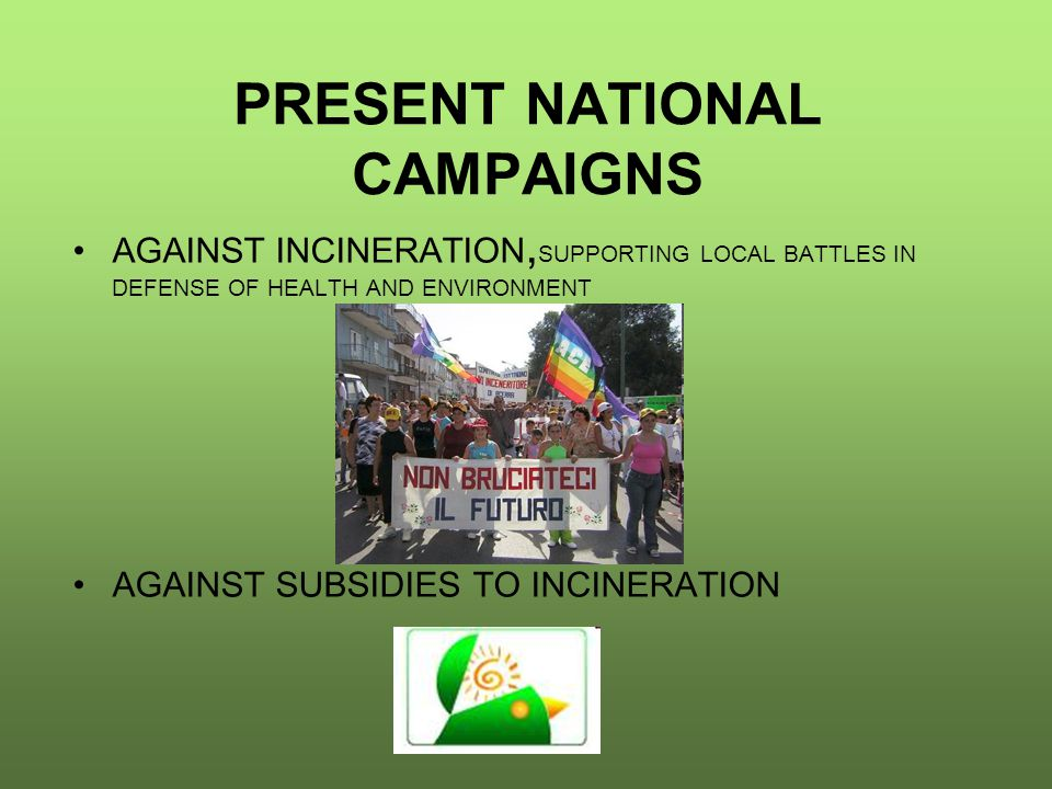 Incinerator Defeated Or Stopped In Italy (including biomass combustion plants and cement kilns)