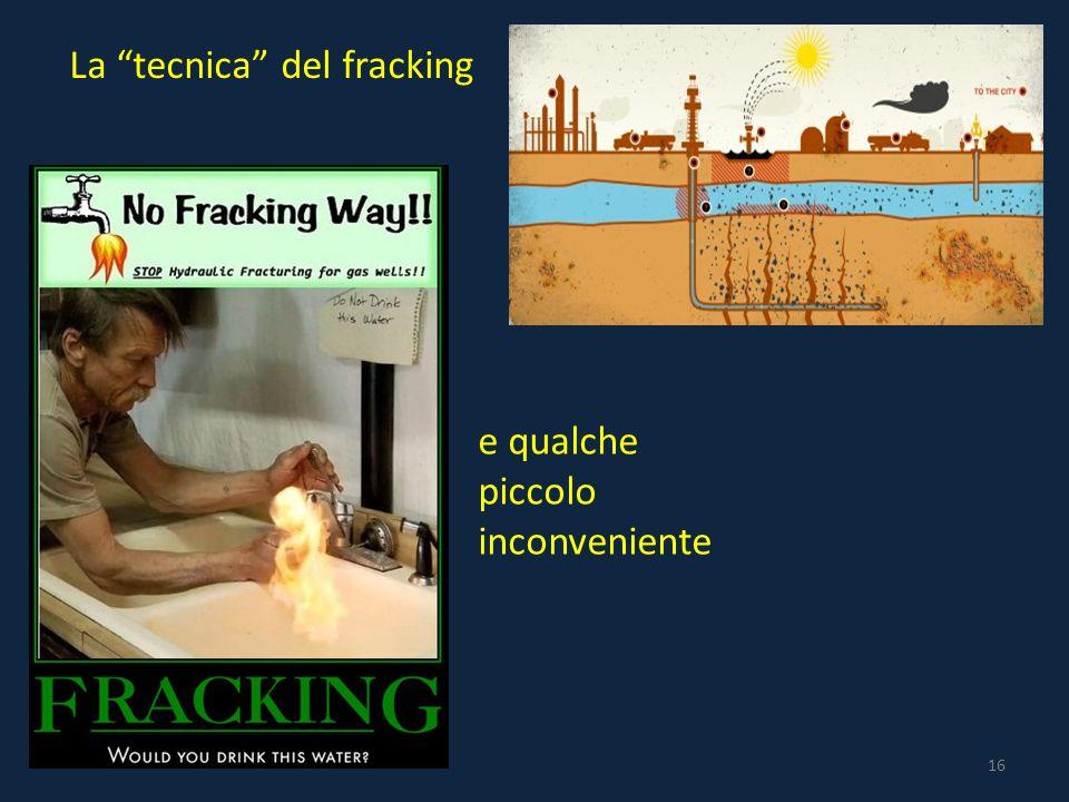 16 La tecnica del fracking e qualche piccolo inconveniente