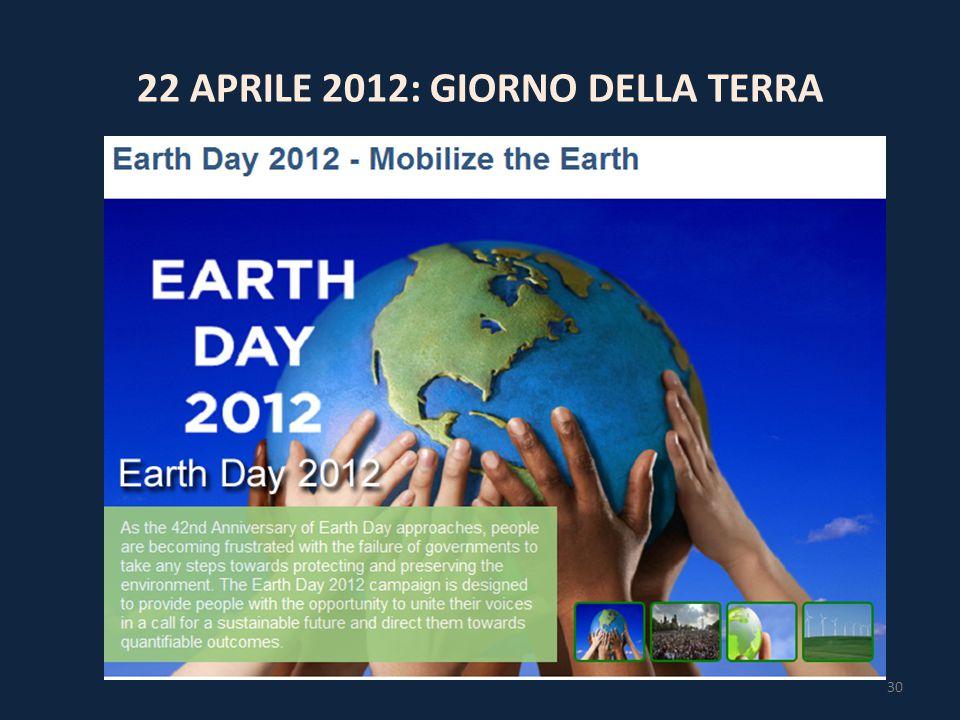 22 APRILE 2012: GIORNO DELLA TERRA 30
