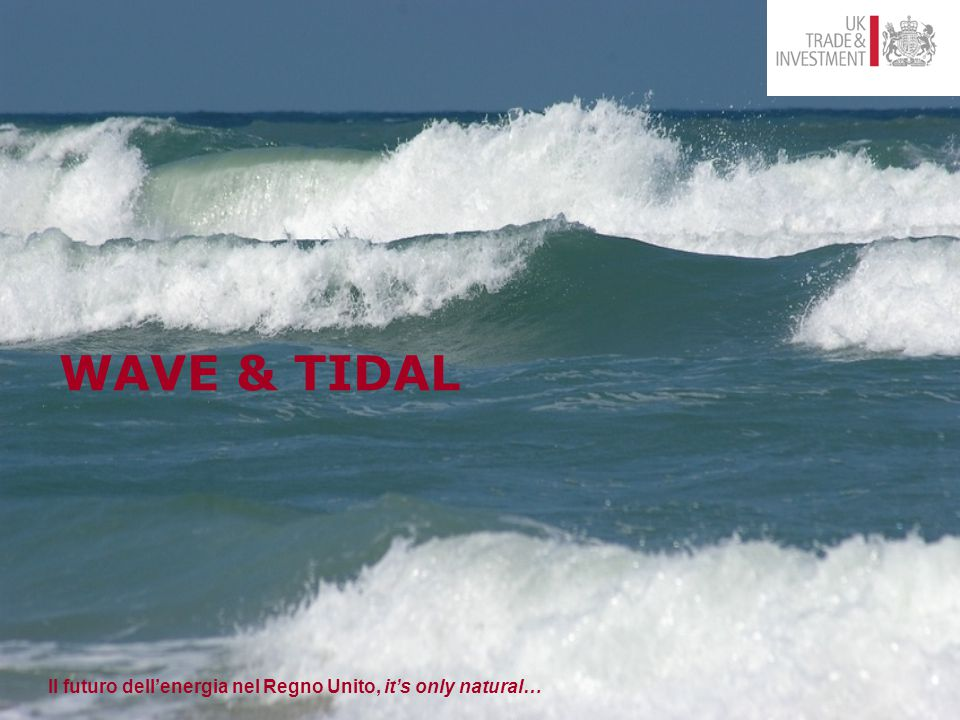 Il futuro dell'energia nel Regno Unito, it's only natural… WAVE & TIDAL