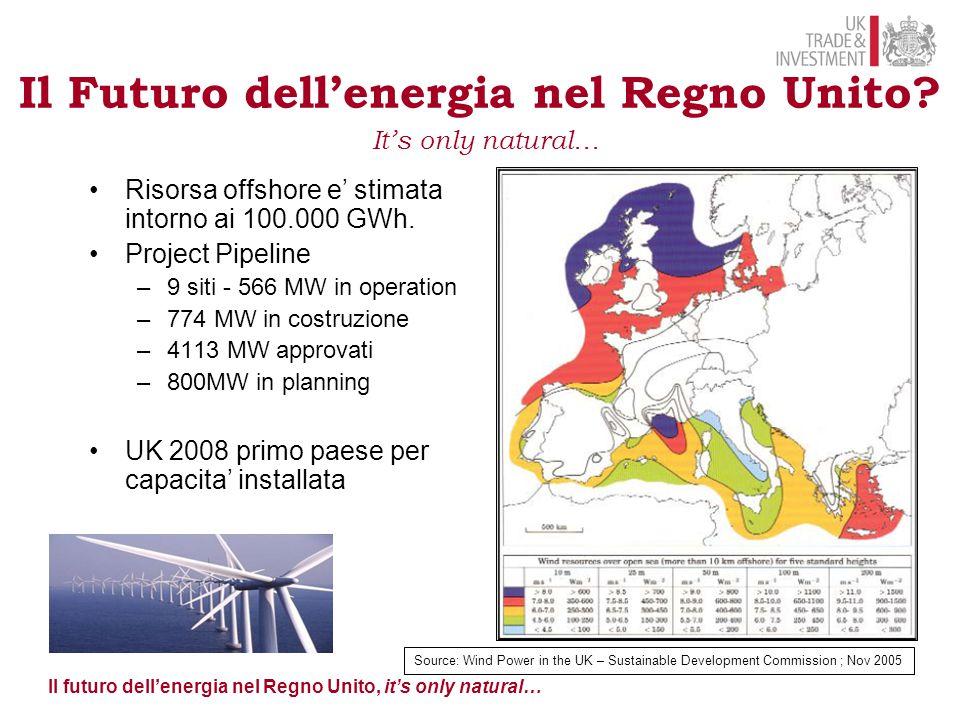Il futuro dell'energia nel Regno Unito, it's only natural… Marine Renewable Deployment Fund Il Futuro dell'energia nel Regno Unito.