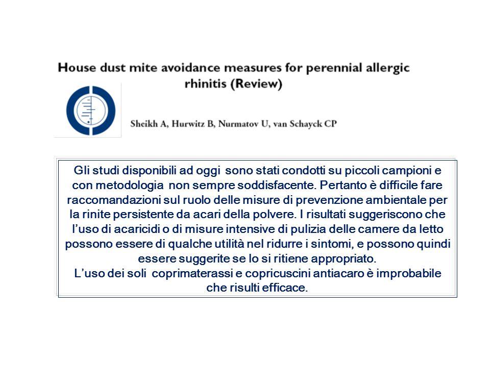 Esempi di raccomandazioni GRADE Corticosteroidi topici o antistaminici topici.