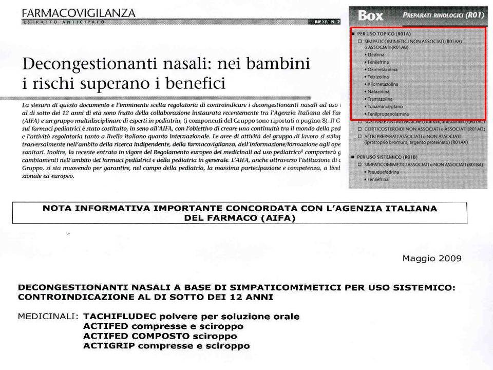 Gli antistaminici di II generazione sono efficaci su rinorrea, starnuti e prurito.