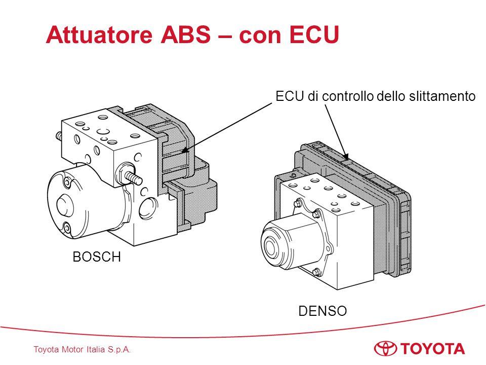 Toyota Motor Italia S.p.A. Attuatore ABS – con ECU BOSCH DENSO ECU di controllo dello slittamento