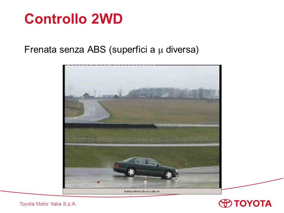 Toyota Motor Italia S.p.A. Controllo 2WD Frenata senza ABS (superfici a  diversa)