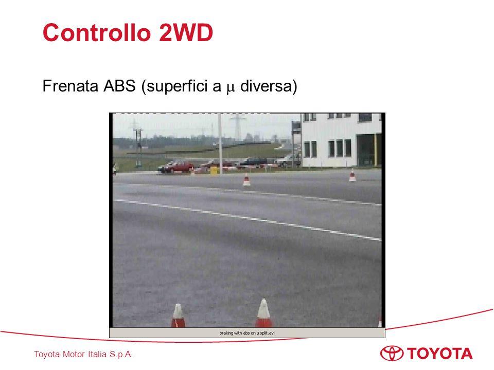 Toyota Motor Italia S.p.A. Controllo 2WD Frenata ABS (superfici a  diversa)