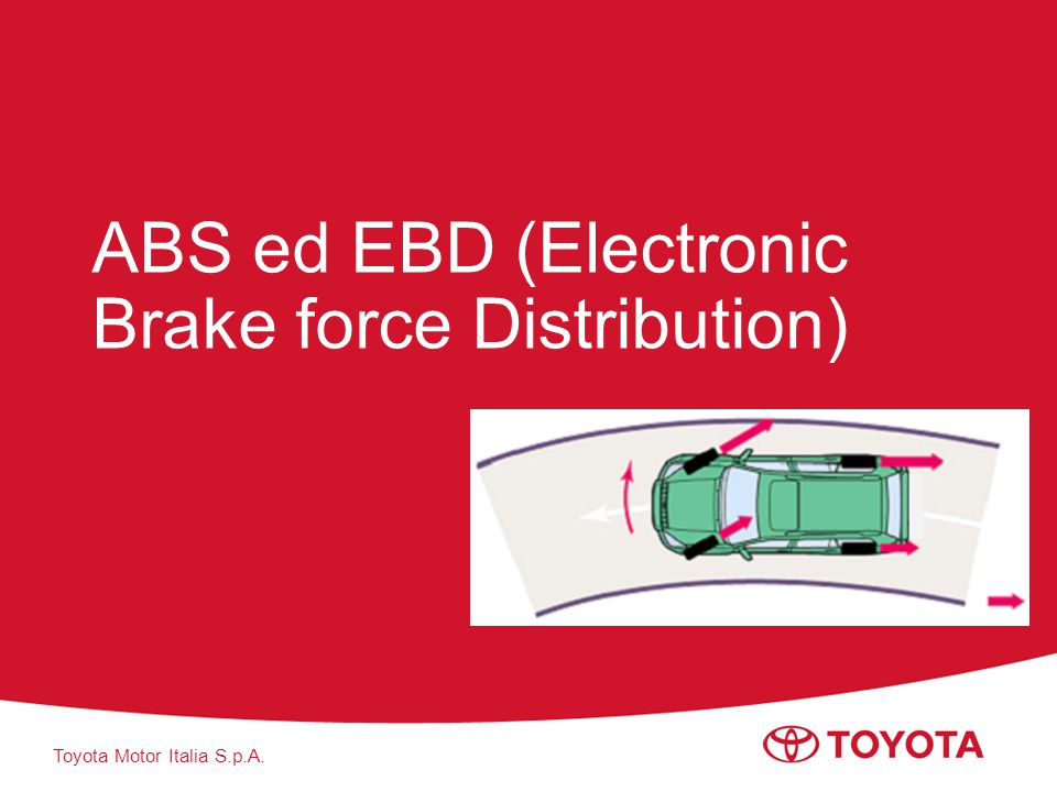 Toyota Motor Italia S.p.A. ABS ed EBD (Electronic Brake force Distribution)
