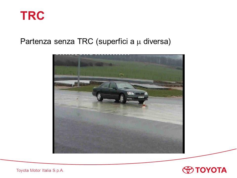 Toyota Motor Italia S.p.A. TRC Partenza senza TRC (superfici a  diversa)