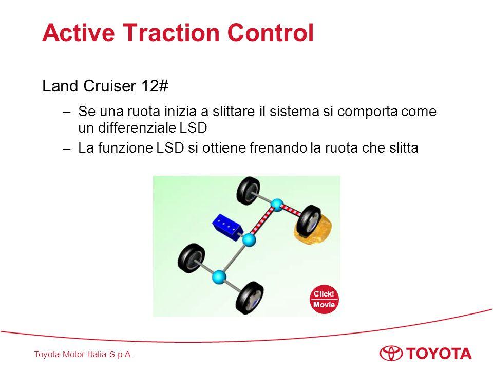 Toyota Motor Italia S.p.A. Active Traction Control Land Cruiser 12# –Se una ruota inizia a slittare il sistema si comporta come un differenziale LSD –
