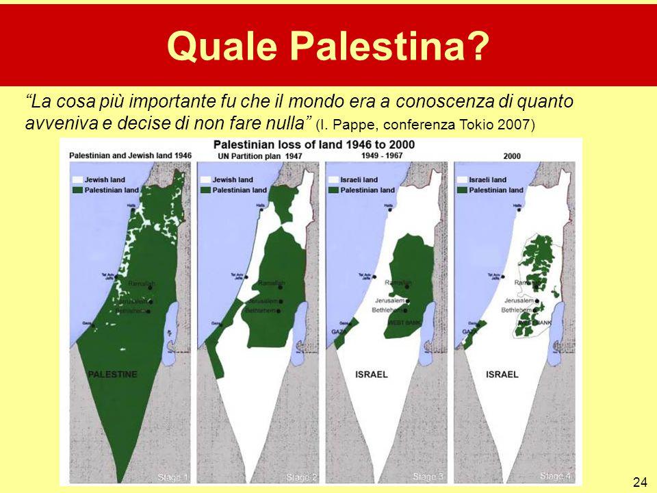 """24 Quale Palestina? """"La cosa più importante fu che il mondo era a conoscenza di quanto avveniva e decise di non fare nulla"""" (I. Pappe, conferenza Toki"""