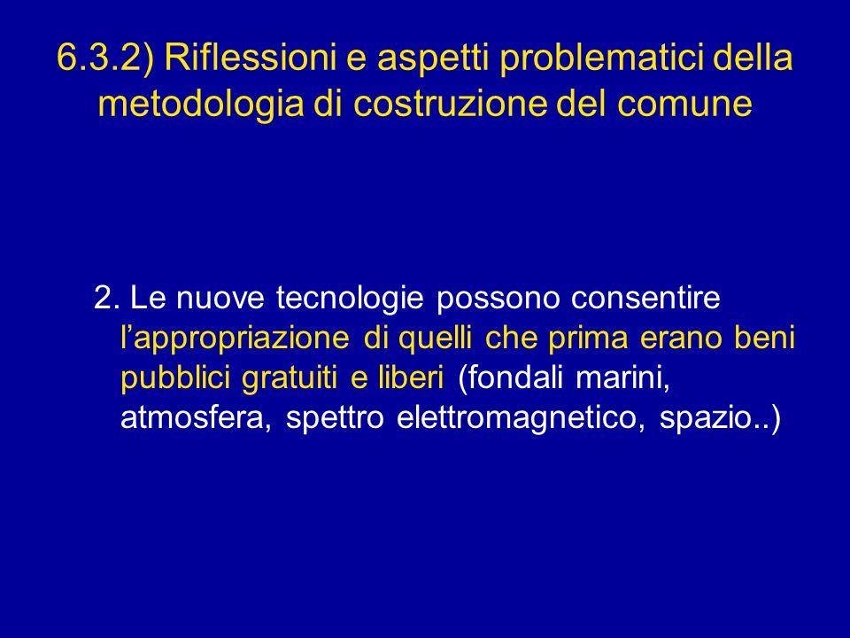 6.3.2) Riflessioni e aspetti problematici della metodologia di costruzione del comune 2.