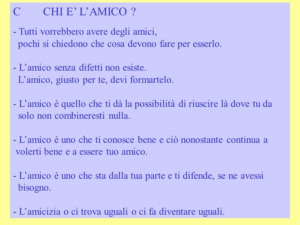 CCHI E' L'AMICO .