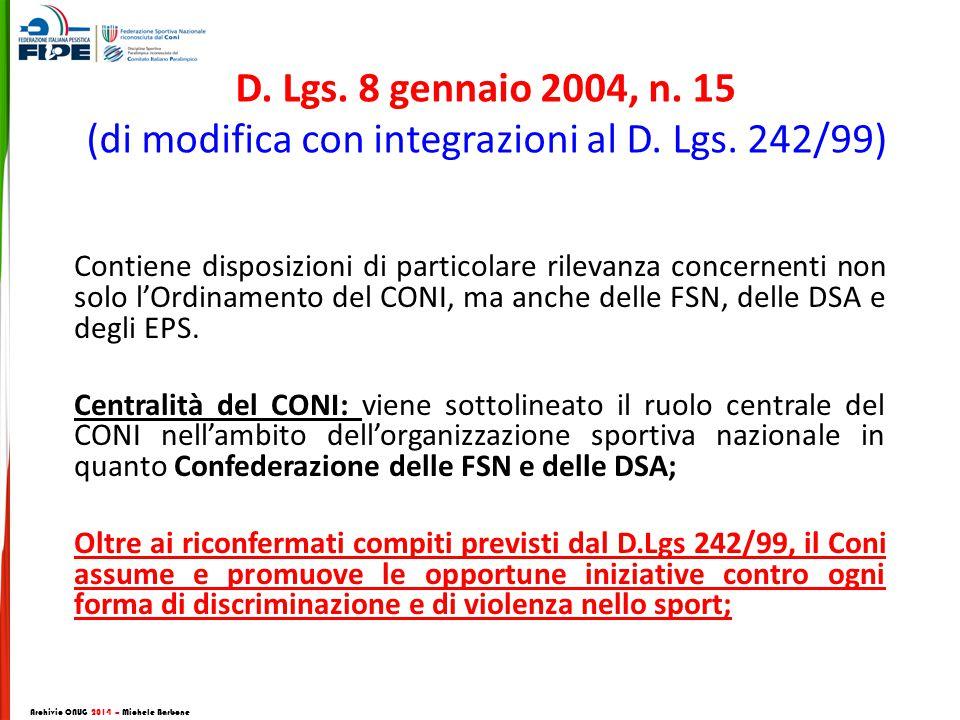 D.Lgs. 8 gennaio 2004, n. 15 (di modifica con integrazioni al D.