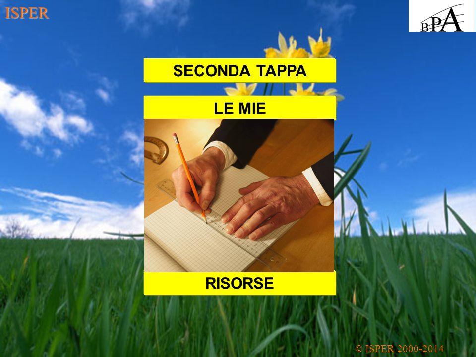 ISPER SECONDA TAPPA LE MIE RISORSE
