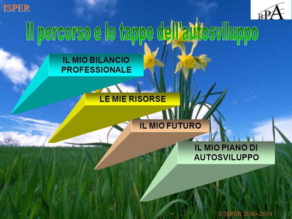 IL MIO BILANCIO PROFESSIONALE LE MIE RISORSE IL MIO FUTURO IL MIO PIANO DI AUTOSVILUPPO © ISPER 2000-2014 ISPER