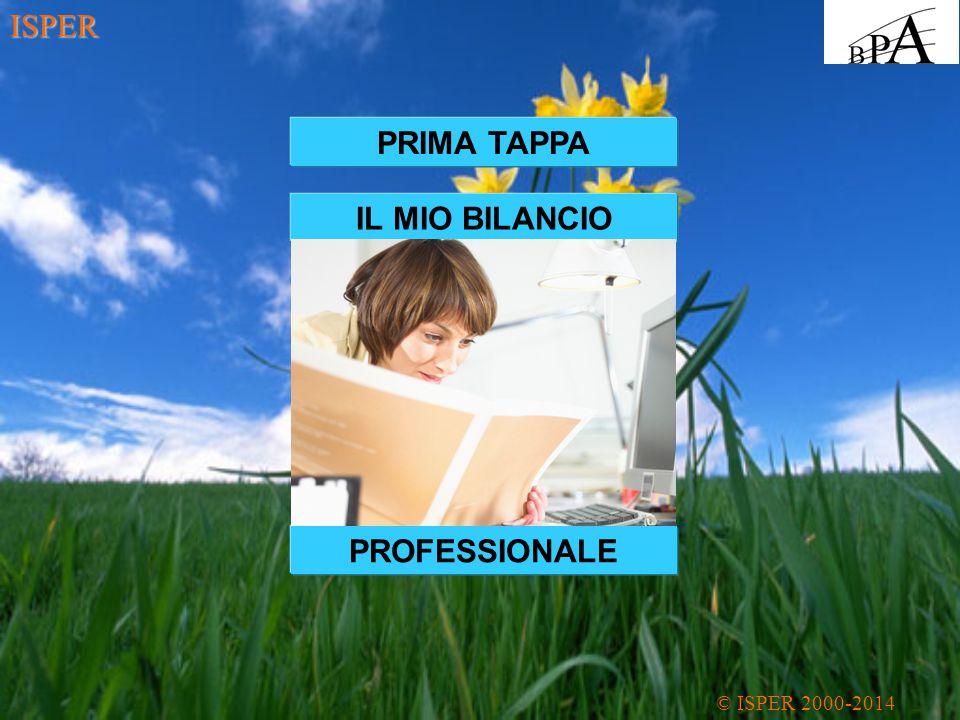 ISPER PRIMA TAPPA IL MIO BILANCIO PROFESSIONALE