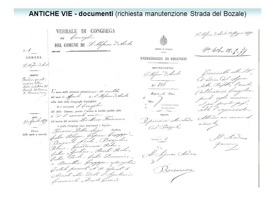 ANTICHE VIE - documenti (richiesta manutenzione Strada del Bozale)