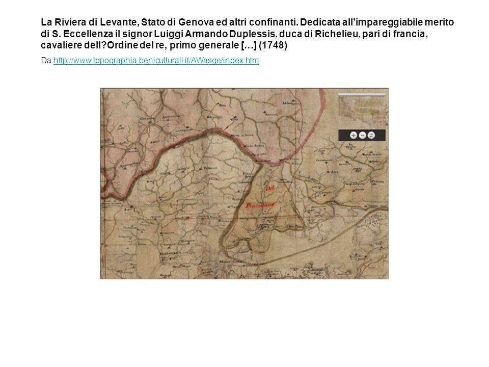 La Riviera di Levante, Stato di Genova ed altri confinanti.