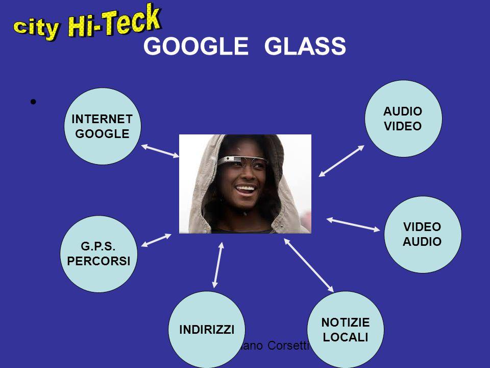 a cura di Adriano Corsetti GOOGLE GLASS INTERNET GOOGLE NOTIZIE LOCALI VIDEO AUDIO VIDEO G.P.S.
