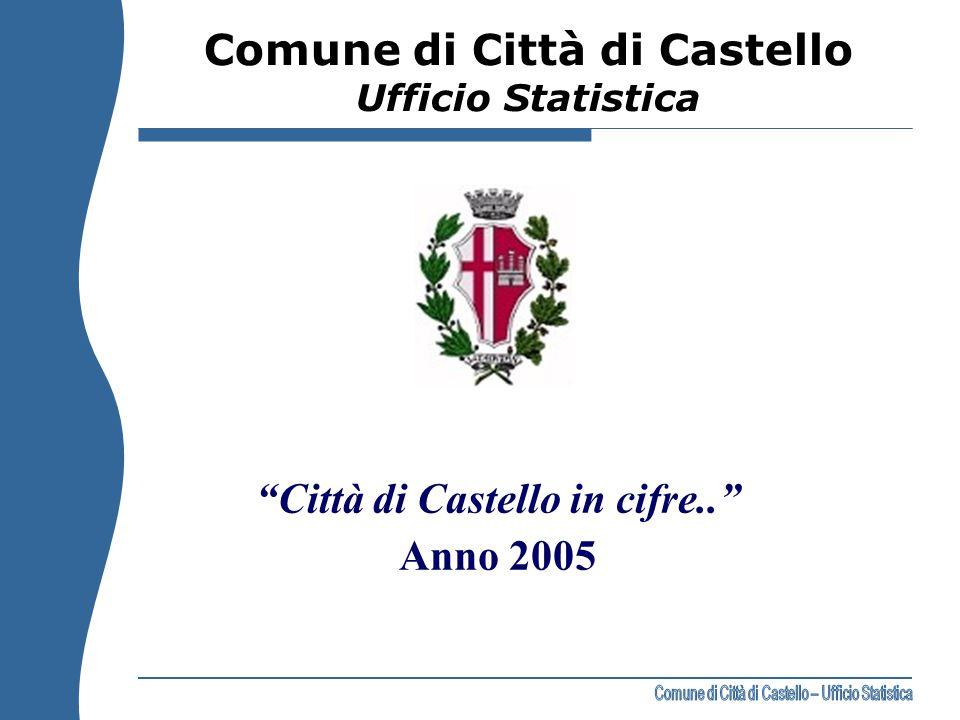 """""""Città di Castello in cifre.."""" Anno 2005 Comune di Città di Castello Ufficio Statistica"""