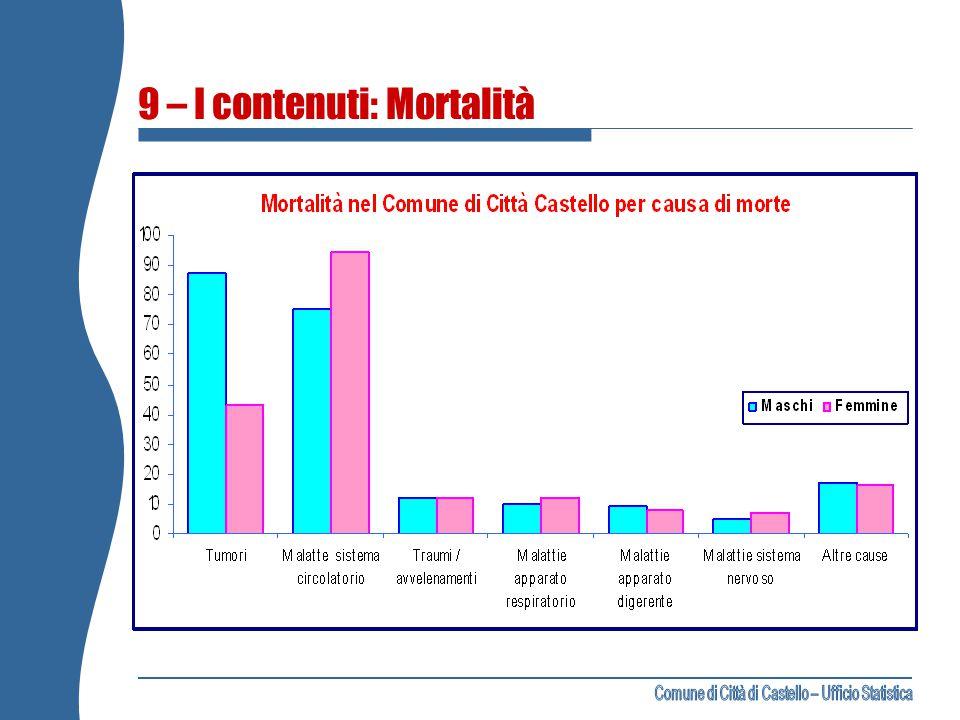 9 – I contenuti: Mortalità