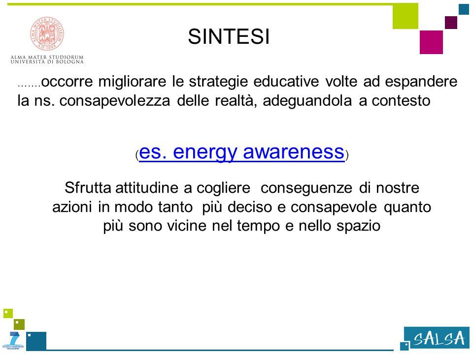 ……. occorre migliorare le strategie educative volte ad espandere la ns.