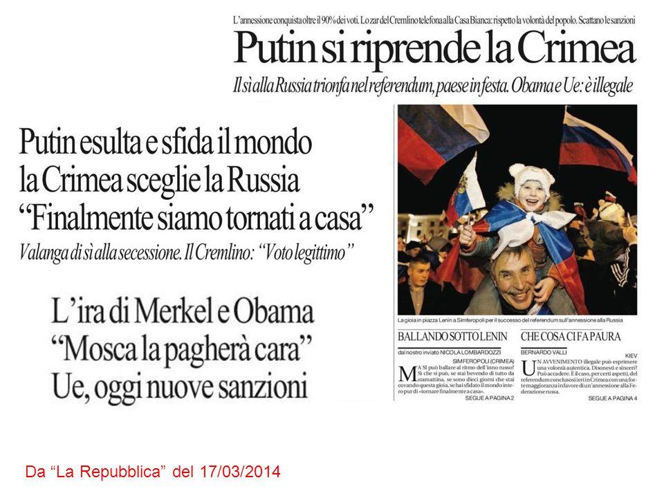 Da La Repubblica del 17/03/2014