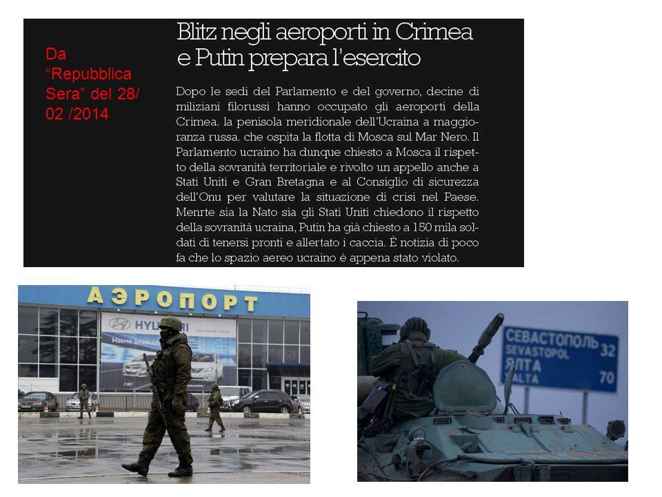 Da Repubblica Sera del 28/ 02 /2014