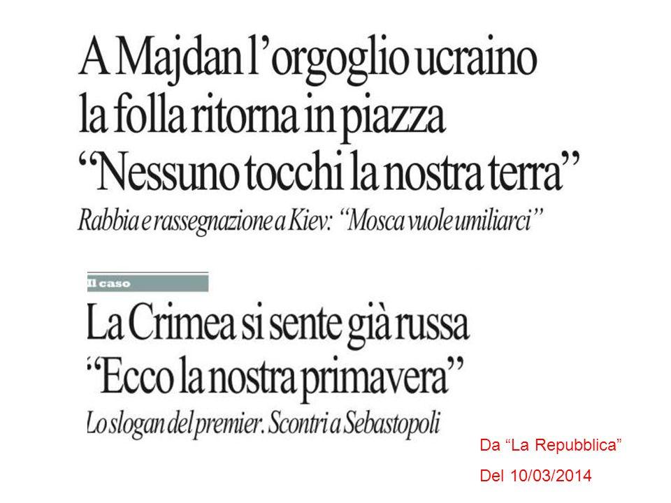 Da La Repubblica Del 10/03/2014