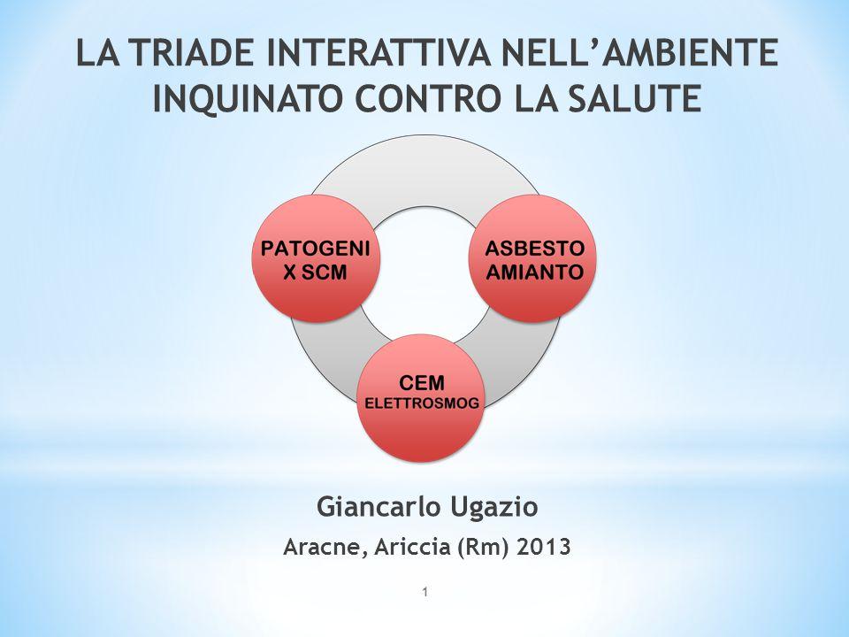 1 LA TRIADE INTERATTIVA NELL'AMBIENTE INQUINATO CONTRO LA SALUTE Giancarlo Ugazio Aracne, Ariccia (Rm) 2013