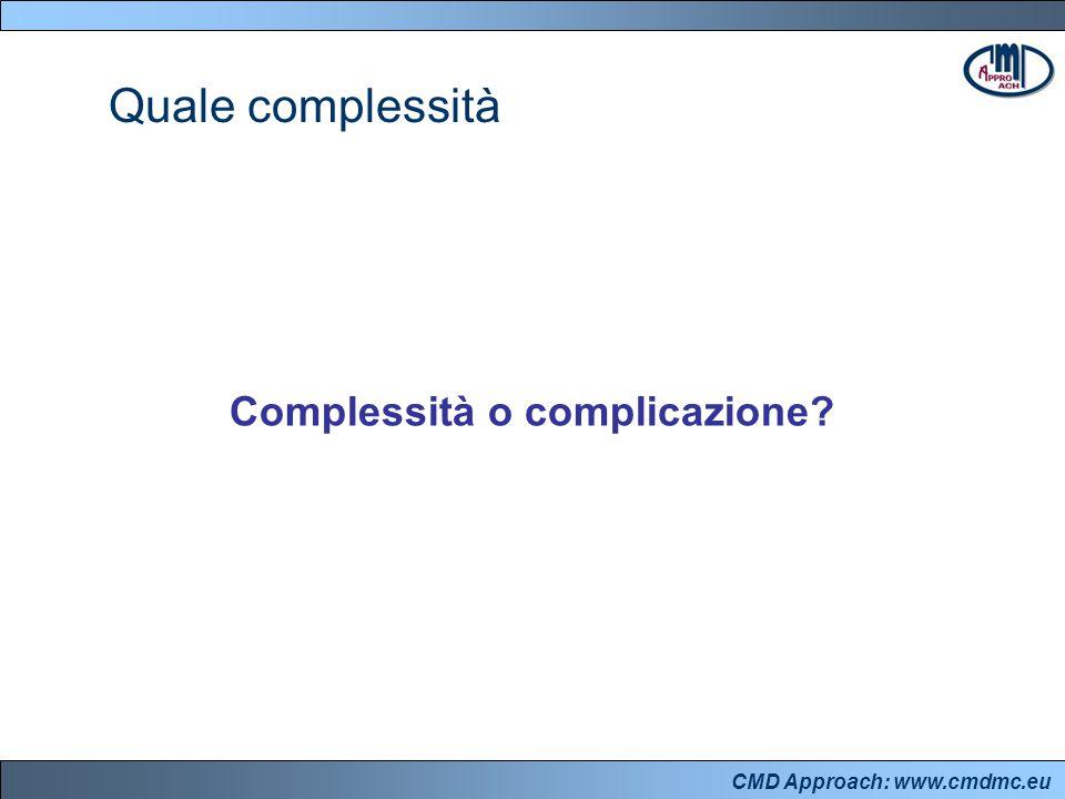 CMD Approach: www.cmdmc.eu Disallineamenti