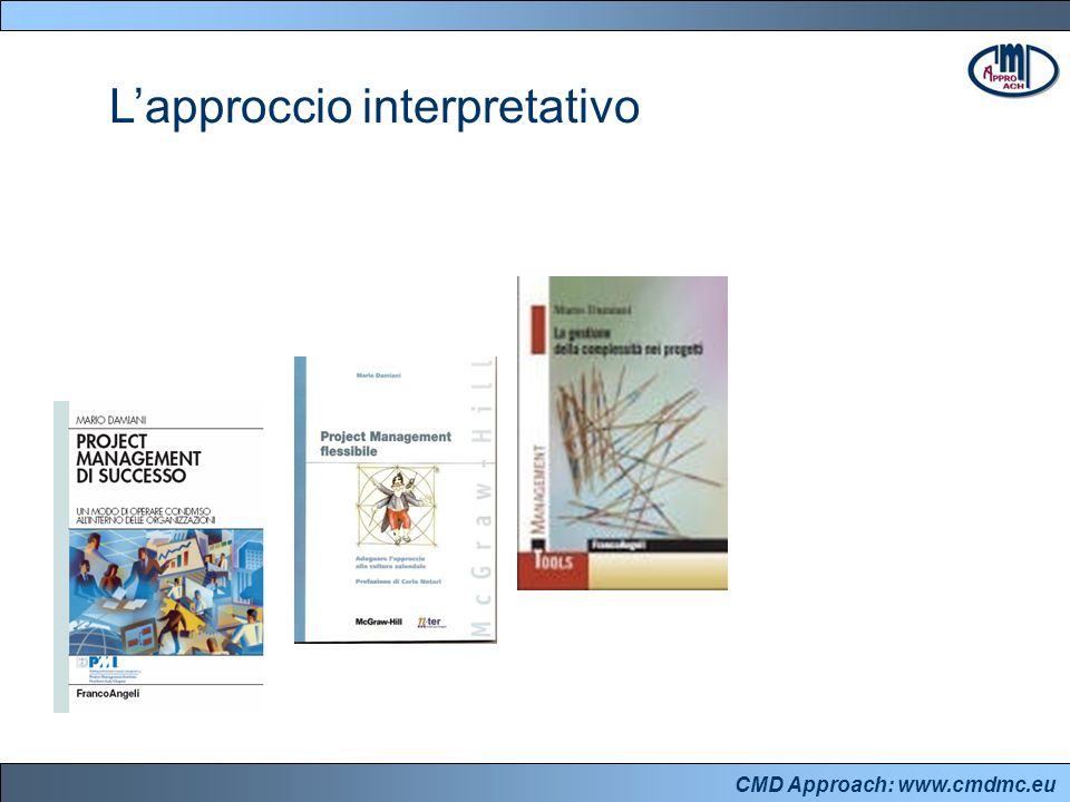 CMD Approach: www.cmdmc.eu L'approccio interpretativo