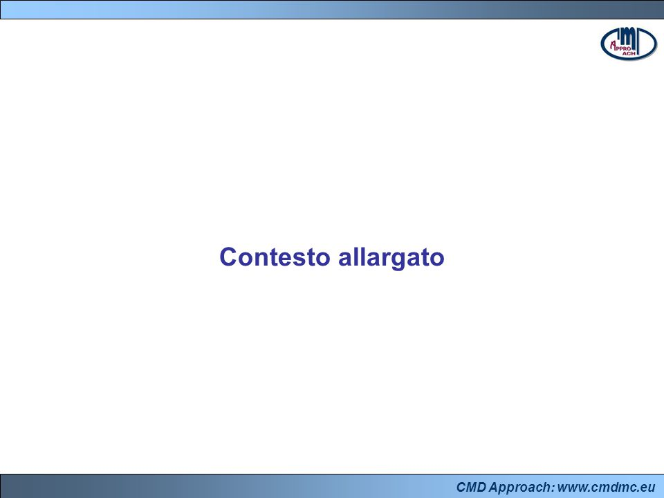 CMD Approach: www.cmdmc.eu Contesto allargato