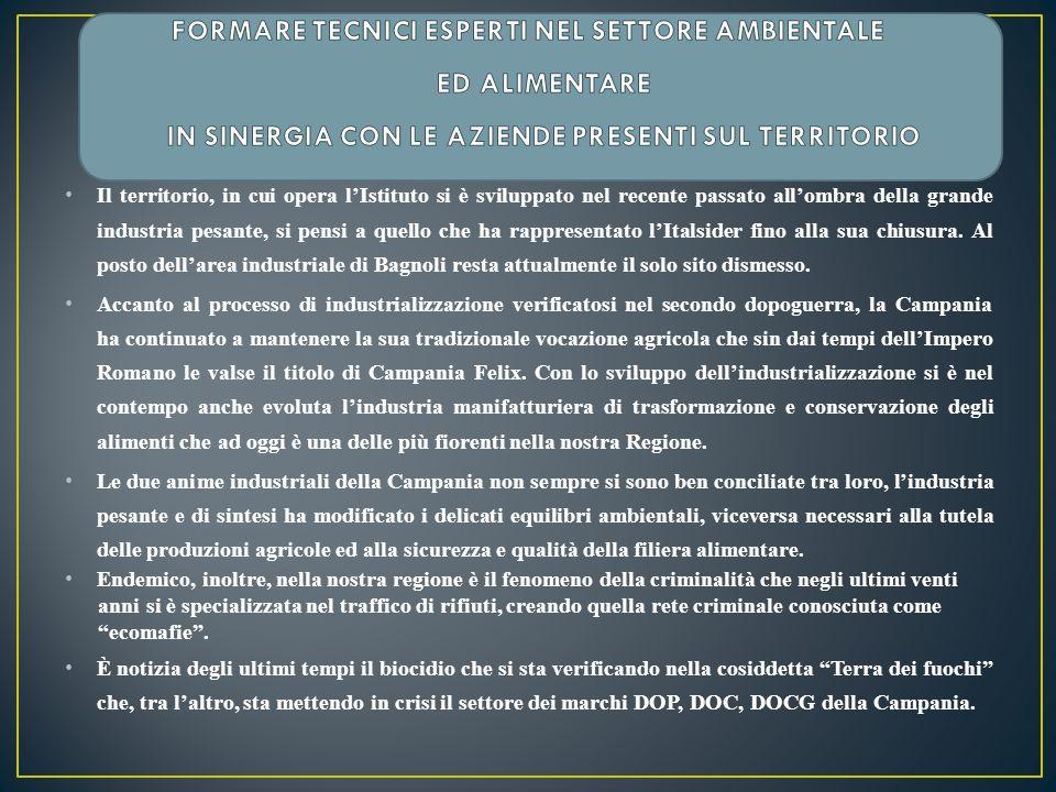 La Campania pur continuando ad essere un luogo di eccellenze in campo agroalimentare, sta subendo un processo di demarketing a causa dei ben noti problemi di inquinamento dei vari comparti ambientali.