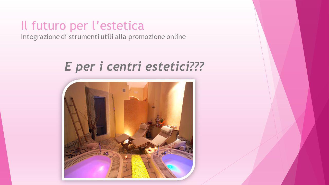 Il futuro per l'estetica Integrazione di strumenti utili alla promozione online E per i centri estetici???