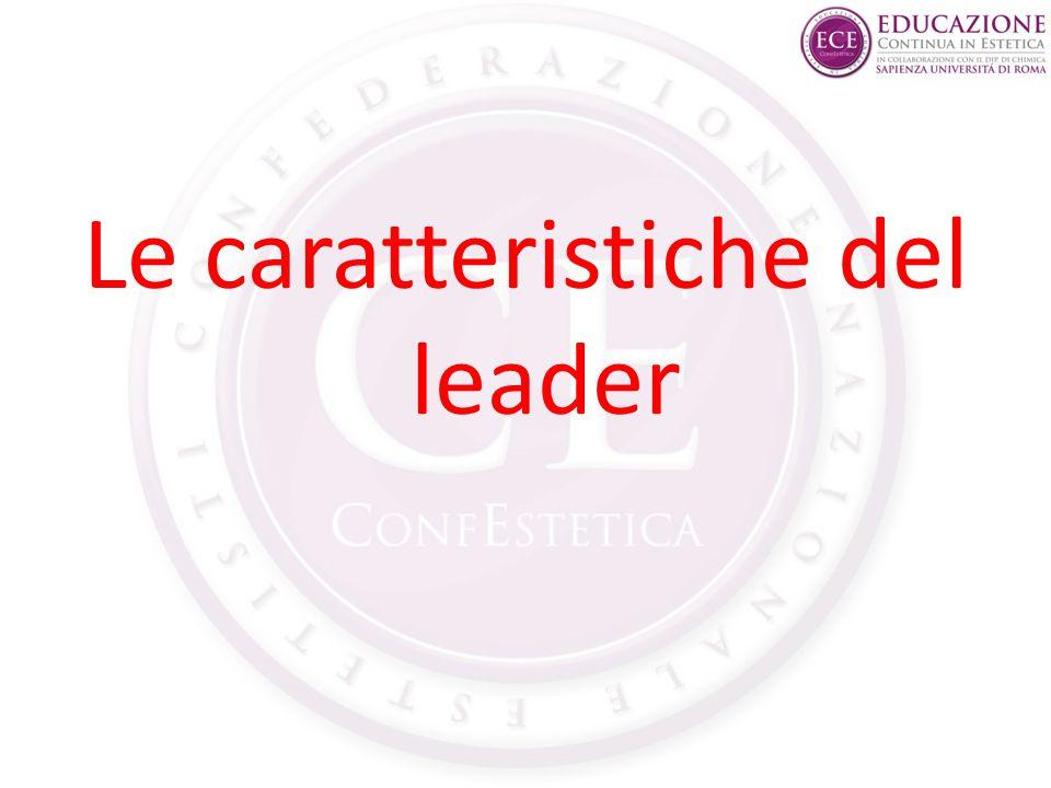 Le caratteristiche del leader