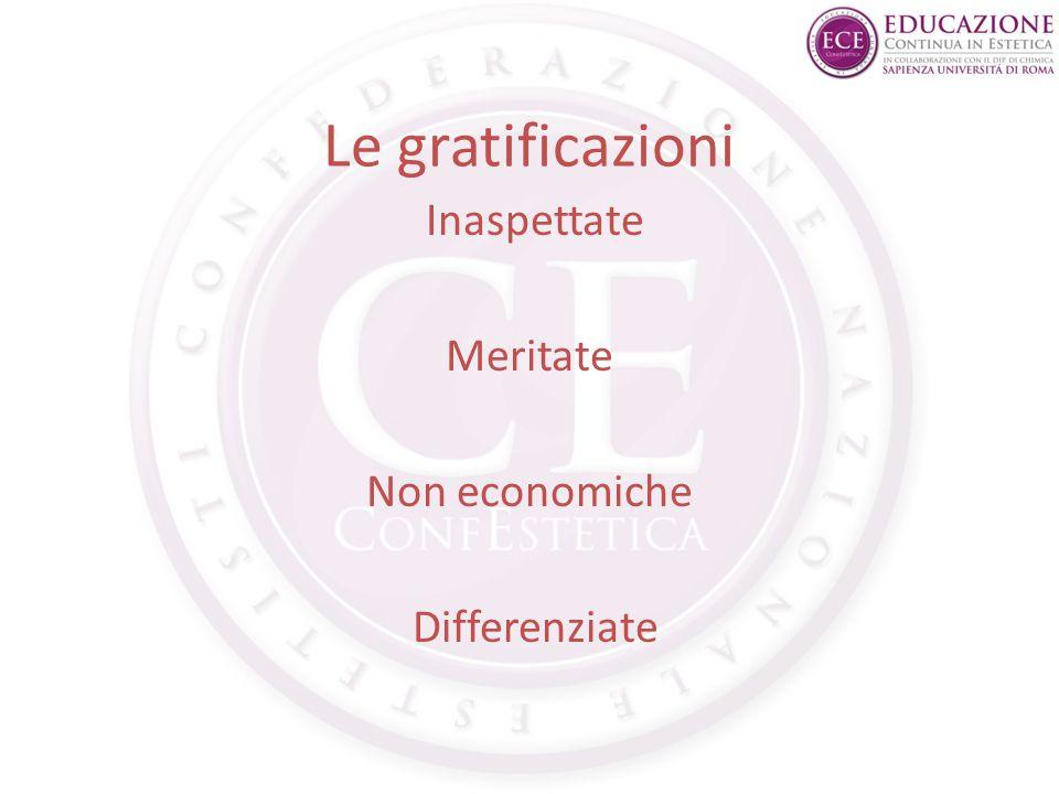 Le gratificazioni Inaspettate Meritate Non economiche Differenziate
