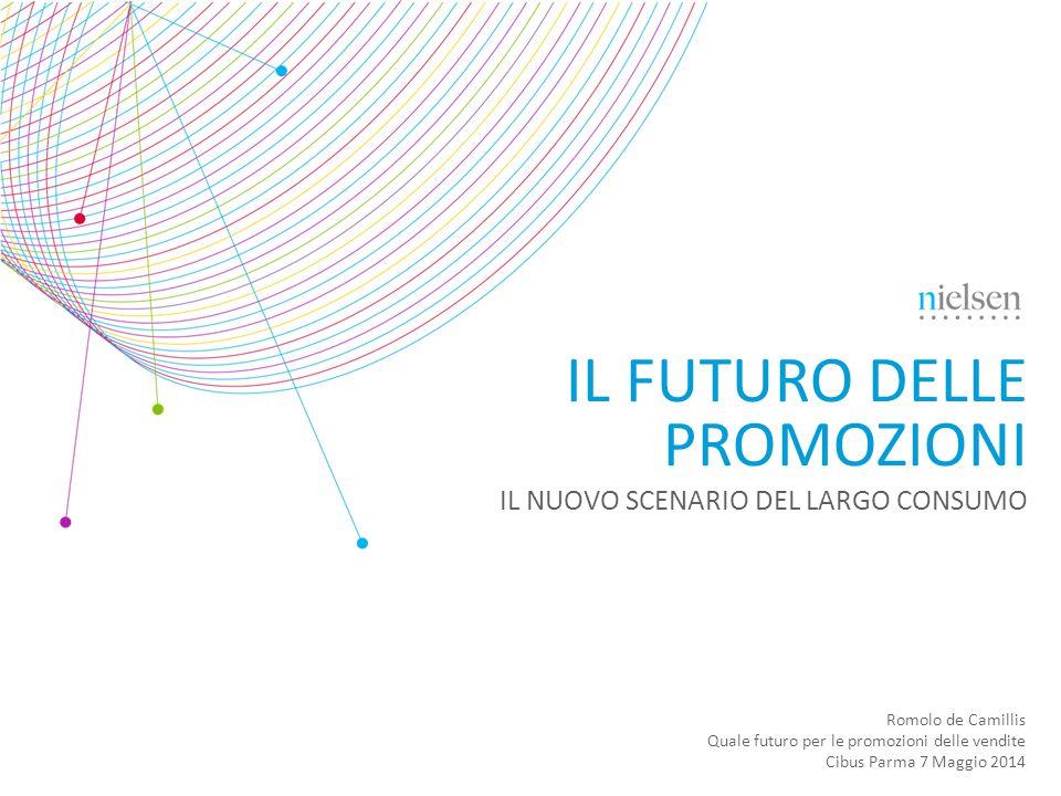 Romolo de Camillis Quale futuro per le promozioni delle vendite Cibus Parma 7 Maggio 2014 IL FUTURO DELLE PROMOZIONI IL NUOVO SCENARIO DEL LARGO CONSU