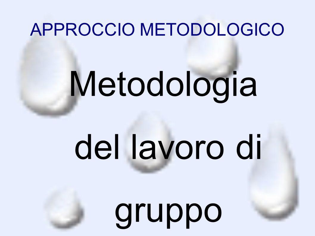 APPROCCIO METODOLOGICO Metodologia del lavoro di gruppo (cooperative learning): l'insegnante guida la raccolta dei dati e la loro analisi da parte dei
