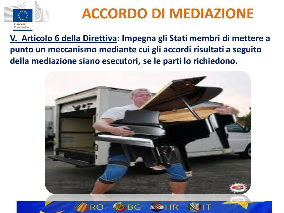 ACCORDO DI MEDIAZIONE V.