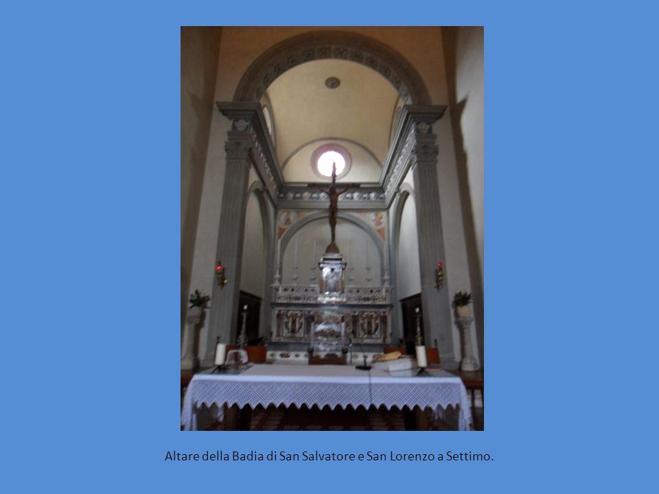 Altare della Badia di San Salvatore e San Lorenzo a Settimo.