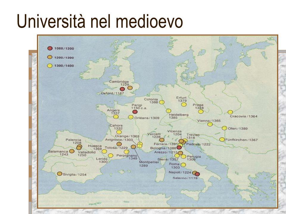Università nel medioevo