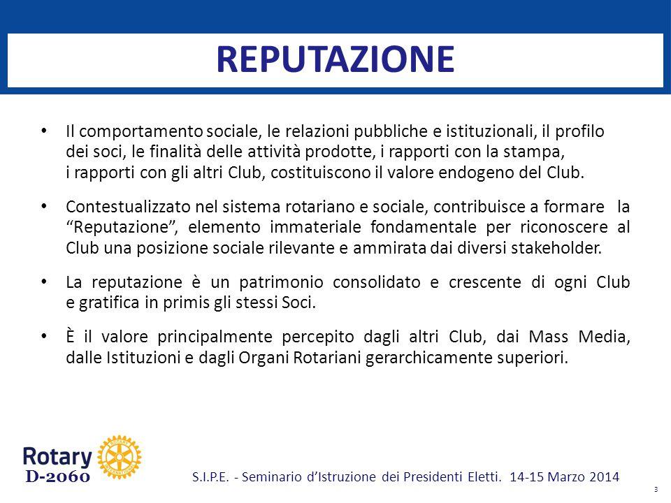D-2060 IDENTITÀ Significa cosa vuole rappresentare il Club, al di là delle regole generali espresse dai regolamenti e dallo statuto.