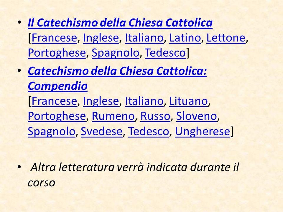 Il Catechismo della Chiesa Cattolica [Francese, Inglese, Italiano, Latino, Lettone, Portoghese, Spagnolo, Tedesco] Il Catechismo della Chiesa Cattolic