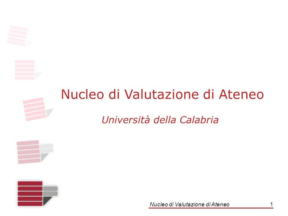Nucleo di Valutazione di Ateneo1 Università della Calabria